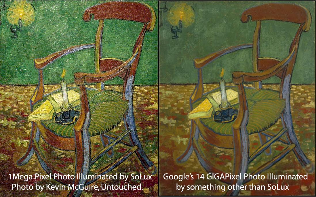 High Quality vs Normal Museum Lighting